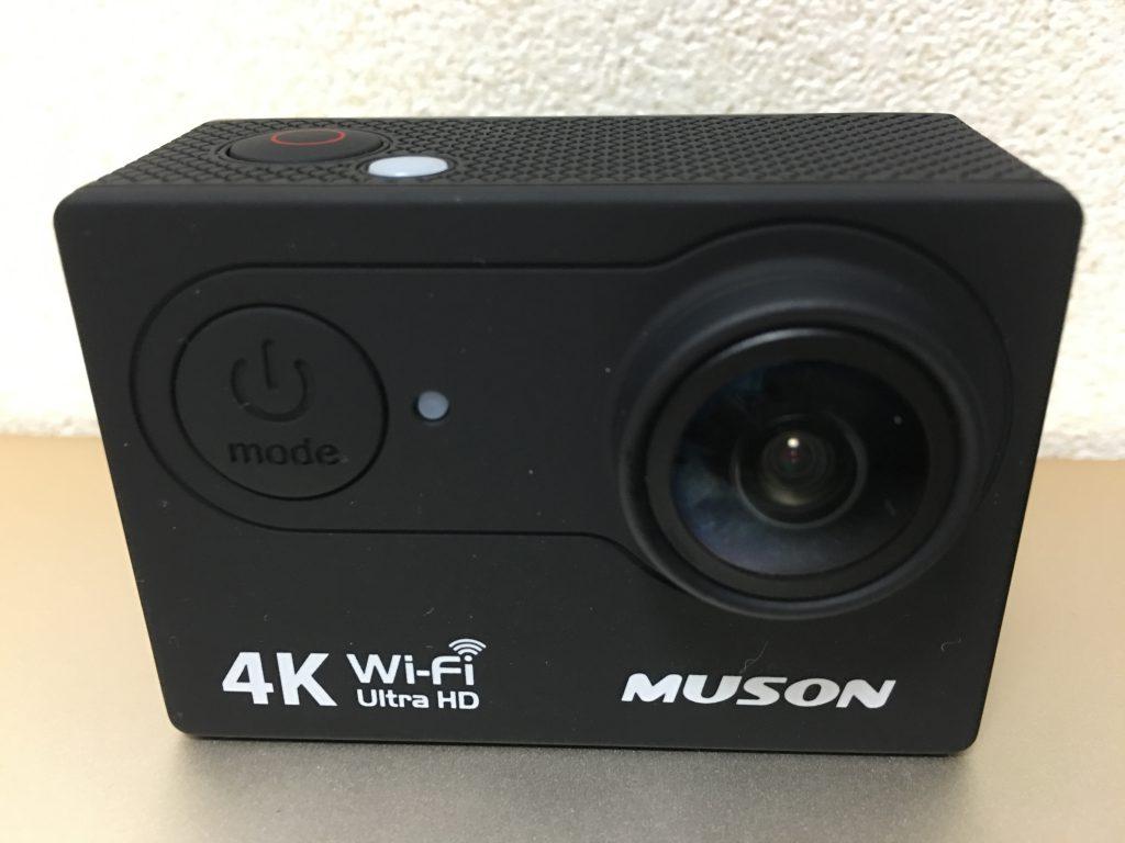 MUSON(ムソン)アクションカメラMC2の本体正面