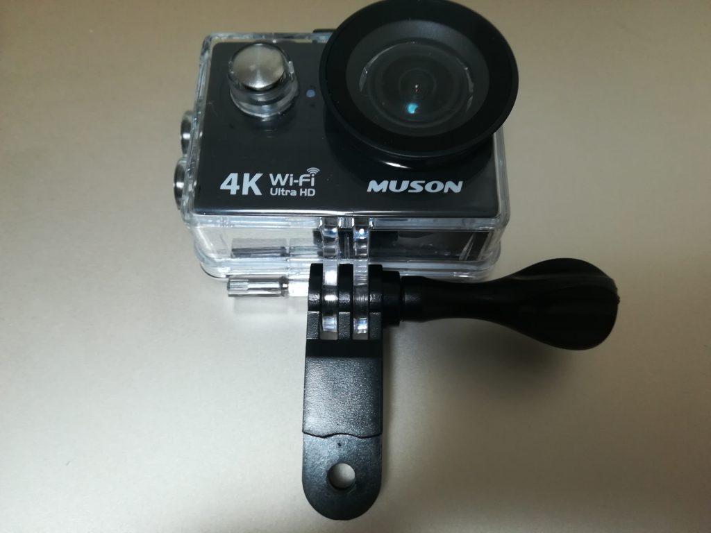 MUSON(ムソン)アクションカメラMC2の水中撮影時のパーツ取付