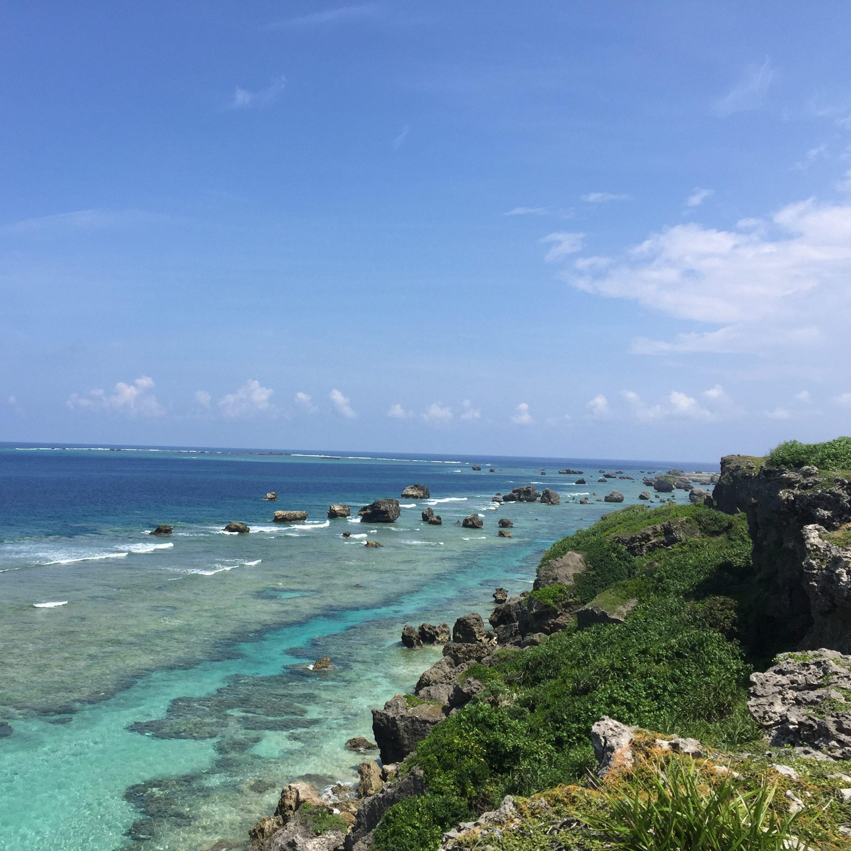 東平安名崎の海2