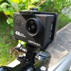DBPOWER 4K WIFI アクションカメラを自転車(ロードバイク)に装着してみた