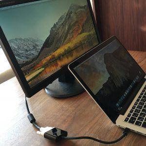 【評価・レビュー】激安のMini Displayport(Thunderbolt)-DVIアダプタを買ってみた