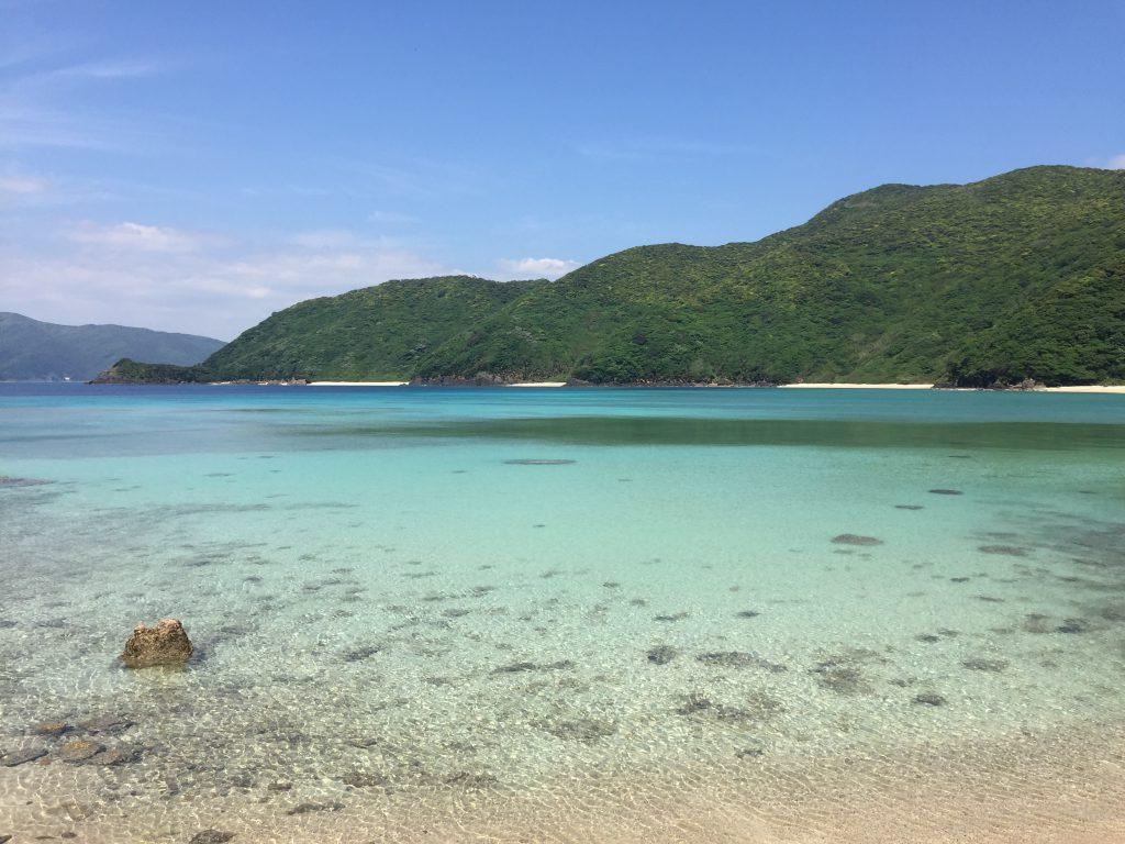 実久海岸海水浴場1