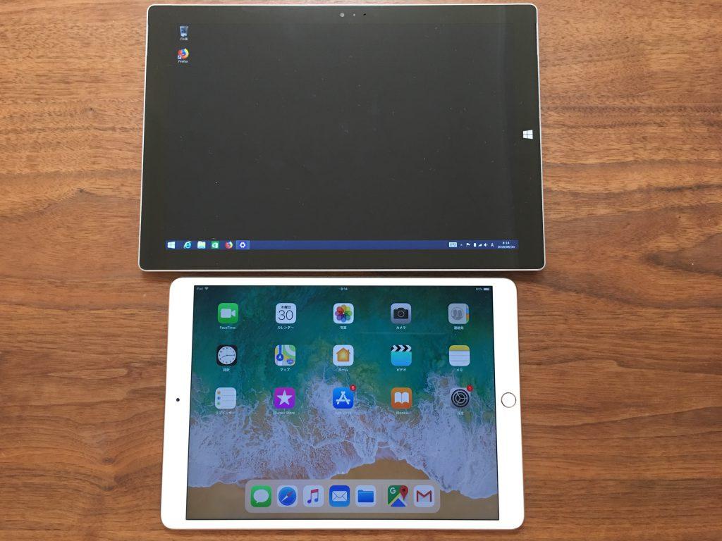 iPadとSurface1