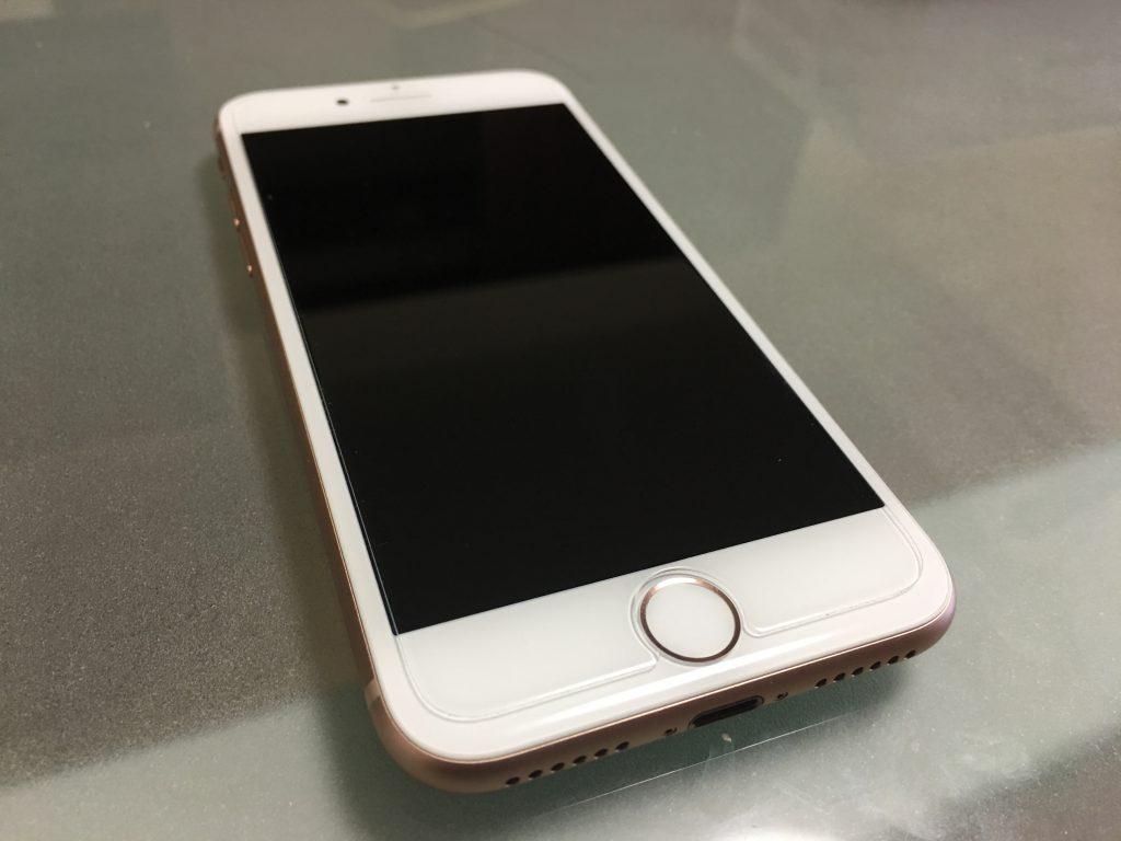 iPhone8 ガラスフィルム iPhone8 背面フィルム TALENANA 6