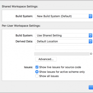Xcode10で「The new build system doesn't yet support On Demand Resources; if you require ODR」のエラー発生