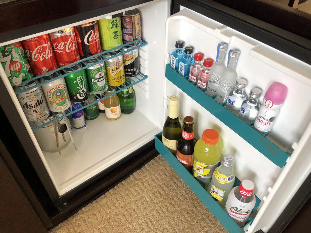 インターコンチネンタル香港の冷蔵庫