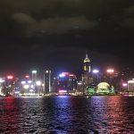 インターコンチネンタル香港のバルコニーからの夜景