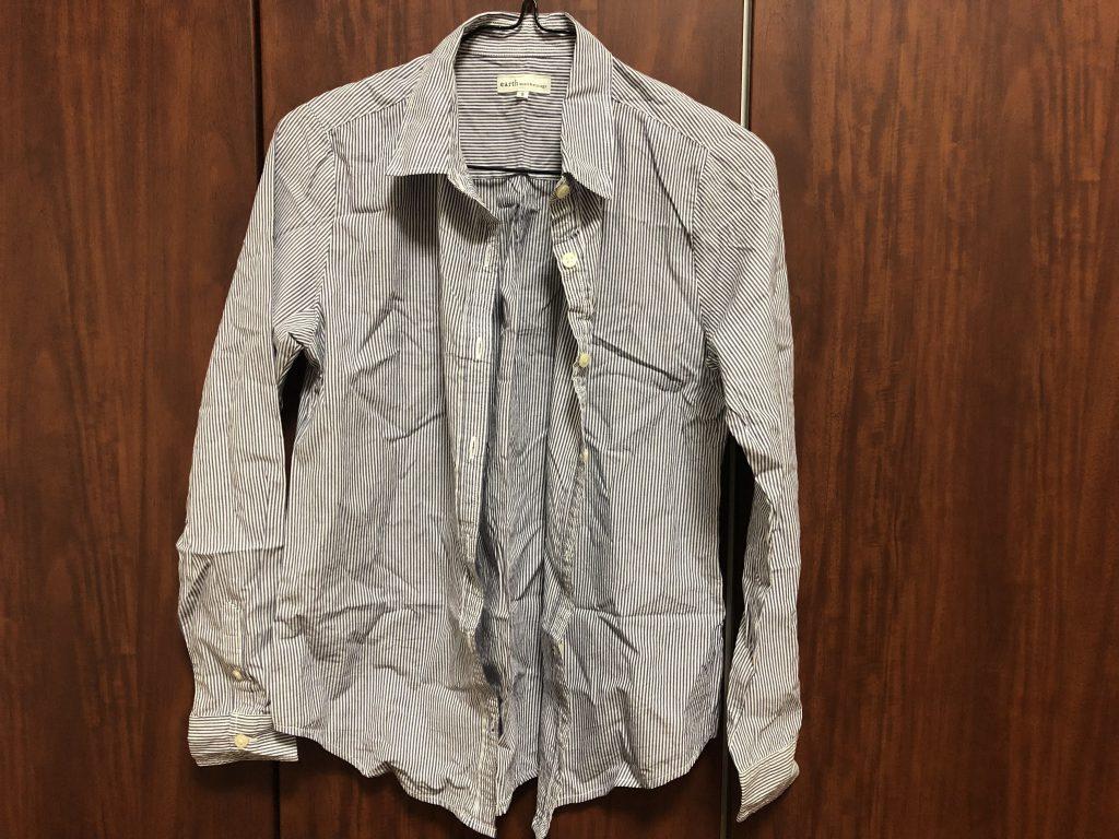 日立 スチームアイロン 衣類スチーマー ブラック CSI-S1 Bの威力をシャツで検証1