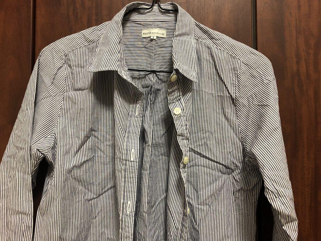 日立 スチームアイロン 衣類スチーマー ブラック CSI-S1 Bの威力をシャツで検証2