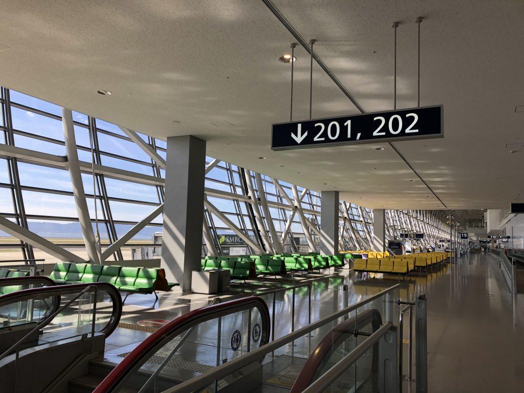 奄美大島の釣り旅行記【2019年4月】関西国際空港の国内線出発ロビーの様子