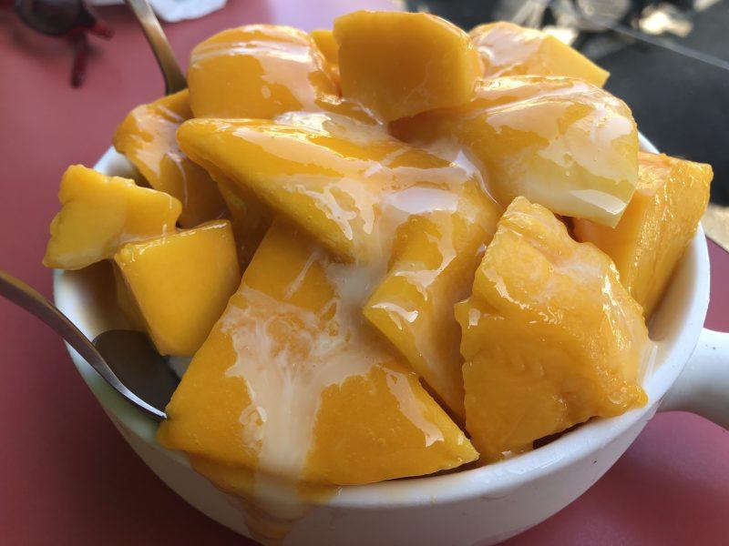 高雄旅行記6日間の5~6日目の芒果好忙のマンゴーアイス1