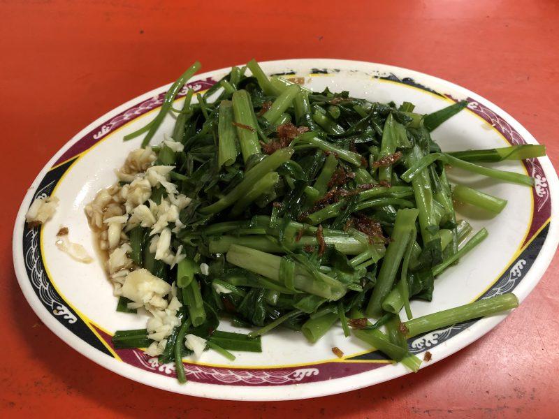 高雄旅行記6日間の3~4日目【2019年5月】自強夜市の青菜炒め