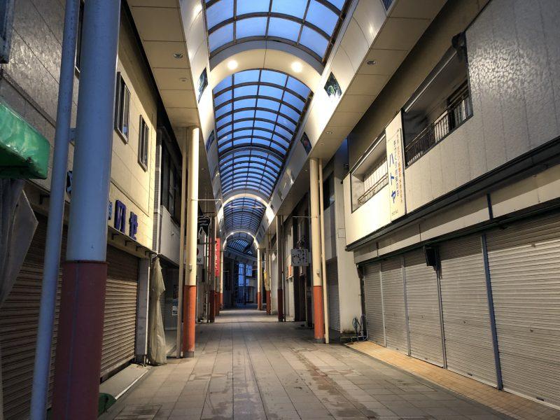 名瀬の商店街