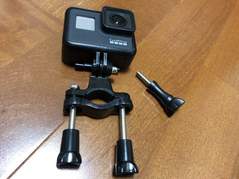 GoPro7と自転車(クロスバイク)に装着するパーツをドッキング