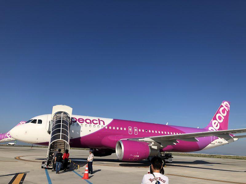 peachのA320の機体