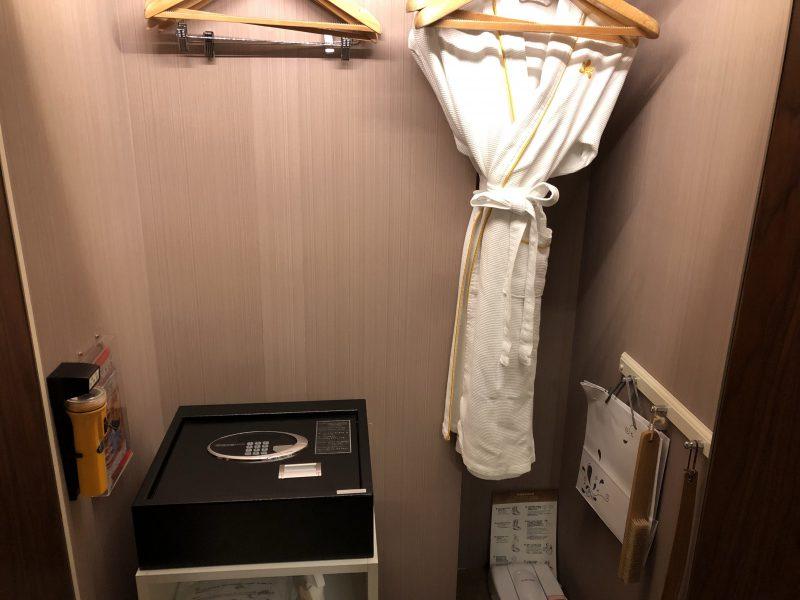 ホテル・ロイヤル・ニッコー・タイペイのクローゼット