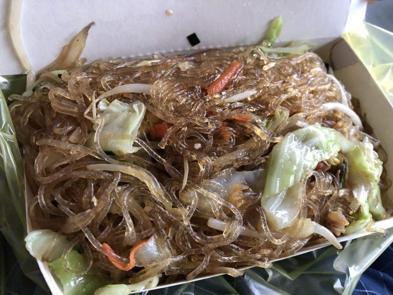 双連市場のマロニー&野菜炒め
