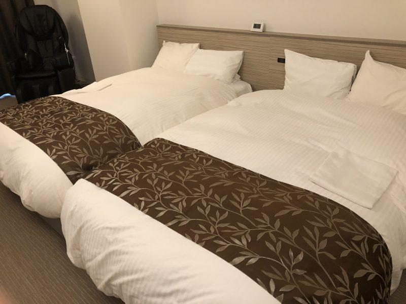 ホテルサンリバー四万十のツインの部屋