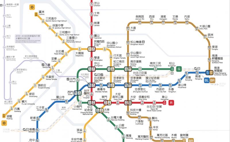 台北の路線図