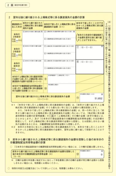 所得税の確定申告書付表の2面