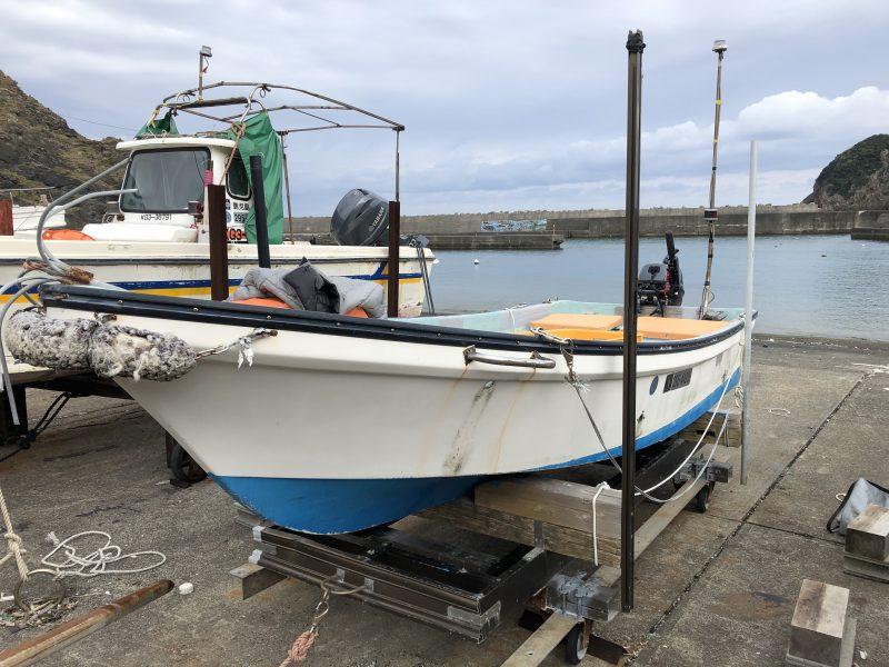 チヌ狙い奄美大島の釣り旅行記【2020年3月】の船