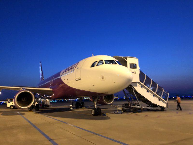 チヌ狙い奄美大島の釣り旅行記【2020年3月】の飛行機