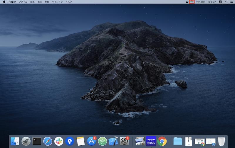 Macのwifiのアイコン