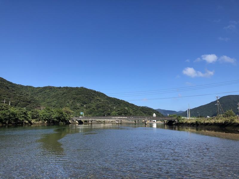 宇検村の釣りのポイントの満潮時
