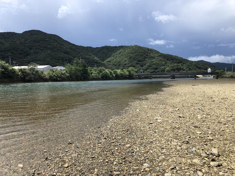 宇検村の釣りのポイントの干潮時