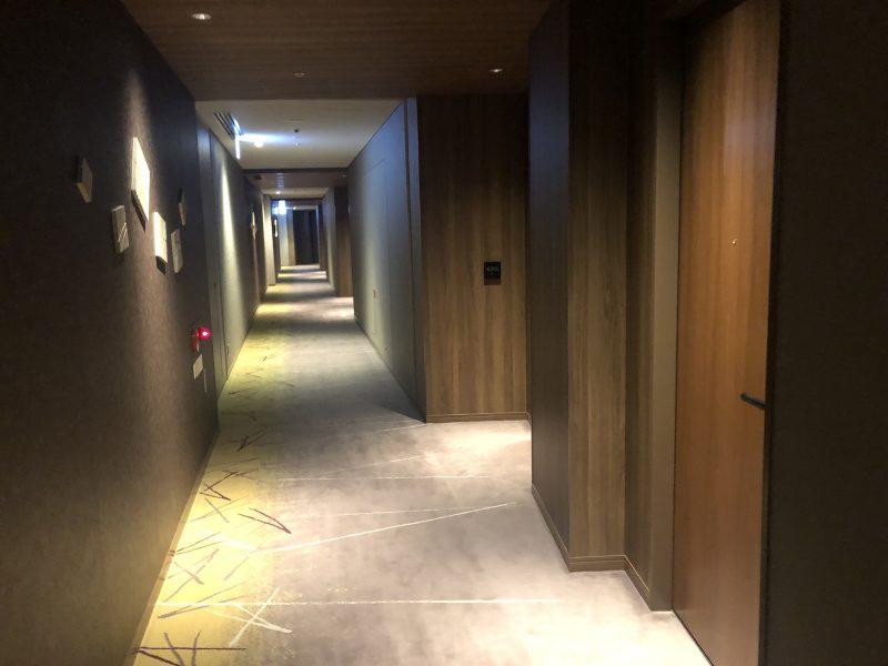 大阪マリオット都ホテルの廊下