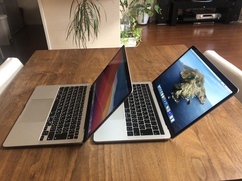 M1のMacBook Airと2019年モデルのMacBook Proを比較